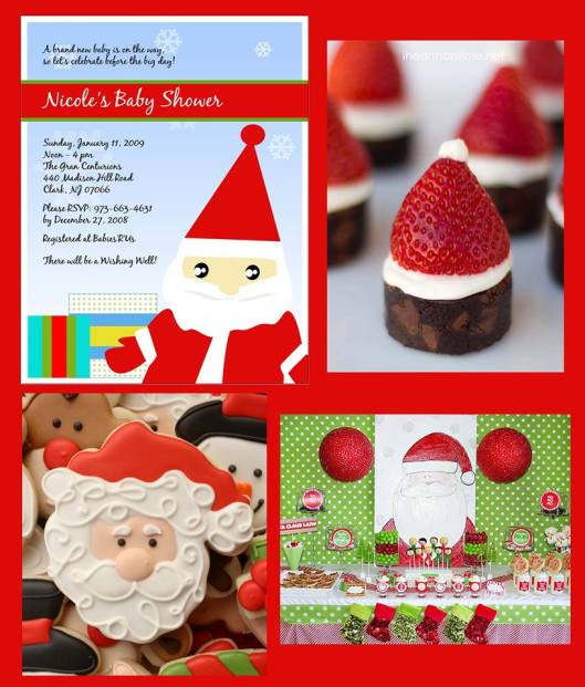 santa baby shower invitations