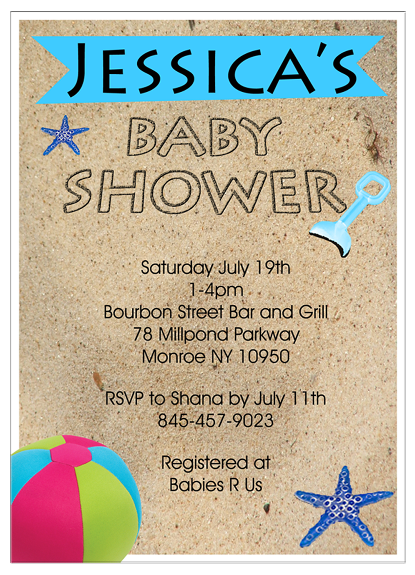 beach theme baby shower invitations babyshower4ublogdotcom