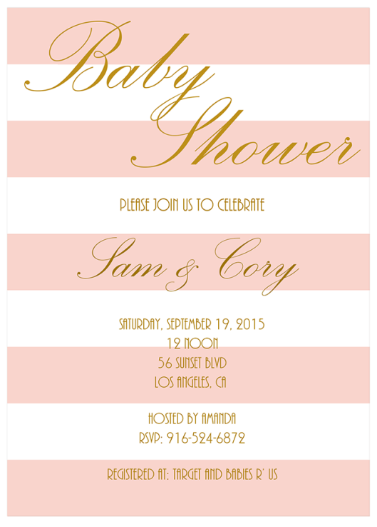 Blush Pink Baby Shower Invitations